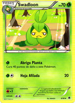 POKEMON CARTA PLANTA 6-98 SWADLOON