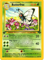 POKEMON CARTA PLANTA 33/64 BUTTERFREE 1º EDC