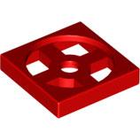 LEGO 3680 | 368021 TEJA GIRATORIA 2X2 PARTE INFERIOR ROJO BRILLANTE