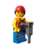 LEGO MOVIE MINIFIGURA SERIE 12 Nº 09 Gail la Constructora