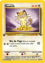 POKEMON CARTA 54/64 MEOWTH 1 EDC