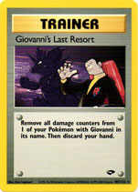 POKEMON CARTA ENTRENADOR 105/132 GIOVANNI´S LAST RESORT