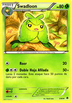 POKEMON CARTA PLANTA 5-98 SWADLOON