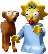 LEGO SIMPSONS 2 MINIFIGURA SERIE 71009 | 04 MAGGIE & KOBOLD