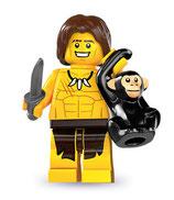 LEGO MINIFIGURA SERIE 7 | 10 TARZAN MONA CHITA
