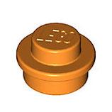 LEGO 6141 | 4157103 PLACA REDONDO 1X1 NARANJA INTENSO