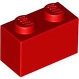 LEGO 3004 | 300421  BLOQUE 1X2 ROJO BRILLANTE