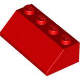 LEGO 3037 | 303721  BLOQUE 2X4 / 45º ROJO BRILLANTE