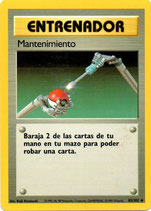 POKEMON CARTA ENTRENADOR 83/102 MANTENIMIENTO
