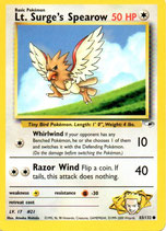 POKEMON CARTA 83/132 LT. SURGE´S SPEAROW