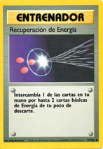 POKEMON CARTA ENTRENADOR 81/102 RECUPERACION DE ENERGIA