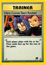 POKEMON CARTA ENTRENADOR 15/82 HERE COMES TEAM ROCKET! INGLES