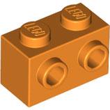LEGO 32000 | 6223454  BLOQUE 1X2 C/ 2 KNOBS NARANJA BRILLANTE