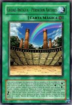 YUGIOH MAGICA | 34487429 CIUDAD ANTIGUA - PERDICION ARCOIRIS (TITULO PLATEADO) DP07