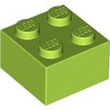LEGO 3003 | 4220632  BLOQUE 2X2 VERDE AMARILLENTO BRILLANTE