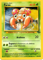 POKEMON CARTA PLANTA 59/64 PARAS