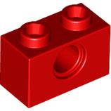 LEGO 3700 | 370021 TECHNIC BLOQUE 1X2 Ø 4.9 ROJO BRILLANTE