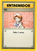 POKEMON CARTA ENTRENADOR 91/102 BILL