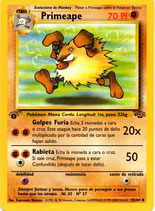 POKEMON CARTA FUERZA 43/64 PRIMEAPE 1º EDC