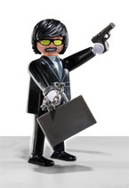 PLAYMOBIL 5458 |SERIE 6 Nº 05 AGENTE SECRETO MEN IN BLACK TOM CRUISE