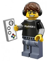 LEGO 71007 MINIFIGURA SERIE 12 Nº 04 JUGADOR VIDEOJUEGOS