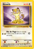 POKEMON CARTA 54/64 MEOWTH