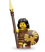 LEGO MINIFIGURA SERIE 10 | Nº 04 MUJER GUERRERO