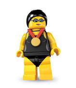 LEGO MINIFIGURA SERIE 7 | 01 CAMPEONA DE NATACION