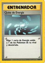 POKEMON CARTA ENTRENADOR 92/102 QUITE DE ENERGIA