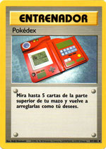 POKEMON CARTA ENTRENADOR 87/102 POKEDEX
