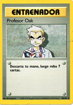 POKEMON CARTA ENTRENADOR 88/102 PROFESOR OAK