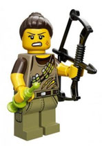 LEGO 71007 MINIFIGURA SERIE 12 Nº 10 CAZADORA DINOS