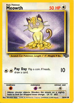 POKEMON CARTA 54/64 MEOWTH INGLES