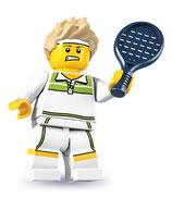 LEGO MINIFIGURA SERIE 7 | 09 JUGADOR TENIS