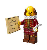 LEGO MOVIE MINIFIGURA SERIE 12 Nº 08 William Shakespeare