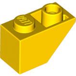 LEGO 3665 | 366524 BLOQUE 1X2 TEJA INV AMARILLO BRILLANTE