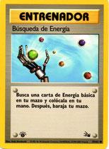 POKEMON CARTA ENTRENADOR 59/62 BUSQUEDA DE ENERGIA 1º EDC