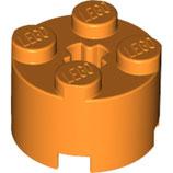 LEGO 6143 | 4141089  BLOQUE 2X2 Ø16 W. Cruz NARANJA BRILLANTE