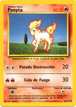 POKEMON CARTA FUEGO 60/102 PONYTA