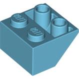 LEGO 3660 | 6070756  BLOQUE 2X2 / 45º INV AZUL CELESTE MEDIO