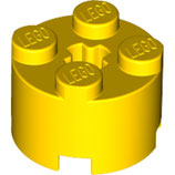 LEGO 6143 | 614324  BLOQUE 2X2 Ø16 W. Cruz AMARILLO BRILLANTE