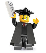 LEGO MINIFIGURA SERIE 5 | 01 GRADUADO UNIVERSIDAD