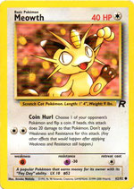 POKEMON CARTA 62/82 MEOWTH INGLES