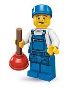 LEGO MINIFIGURA SERIE 9 | Nº 16 PLOMERO