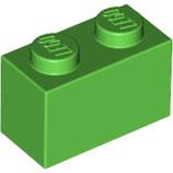 LEGO 3004 | 4647553  BLOQUE 1X2 VERDE BRILLANTE