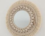 Miroir rond en macramé PALOMA