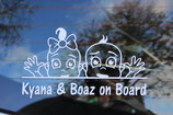 Gepersonaliseerde On Board sticker