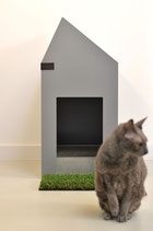 Toilet for cats 'The Cat Hut' in PVC