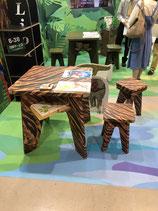 オリジナルデザイン 強化ダンボール椅子・テーブルセット