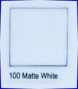 100 Matte White (Mattweiss)